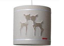 Hanglamp Hertjes beige strass