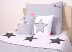 Kinderdekbedovertrek Stars cool grey