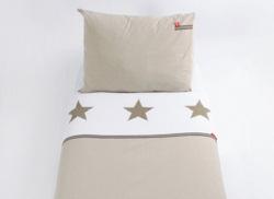 Kinderdekbedovertrek Stars beige