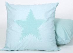Sierkussen Stars melange aqua