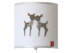 Wandlamp Hertjes beige strass