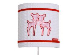 Wandlamp Hertjes pink