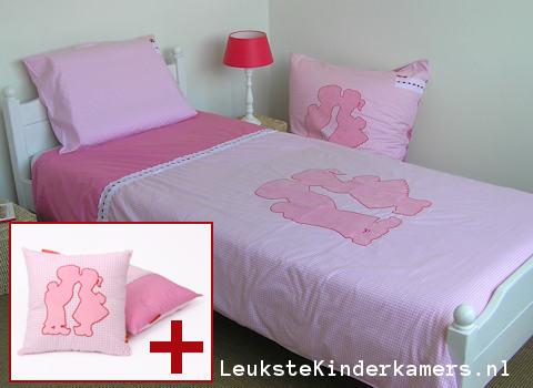 Kinderdekbedovertrek Dutch pink