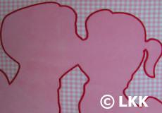Kinderdekbedovertrek Dutch pink applicatie