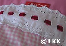 Kinderdekbedovertrek Romantic pink applicatie