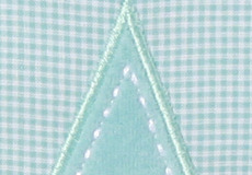Knuffelkussen Star aqua applicatie