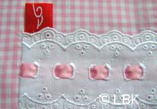 Loungekussenhoes Dutch pink applicatie