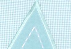 Loungekussenhoes Star aqua applicatie