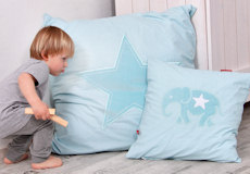 Loungekussenhoes Star aqua sfeer