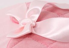 Sierkussen Sweetheart pink applicatie