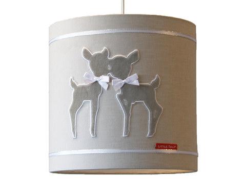 Hanglamp Hertjes beige satin