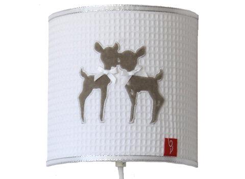 Wandlamp Hertjes beige satin