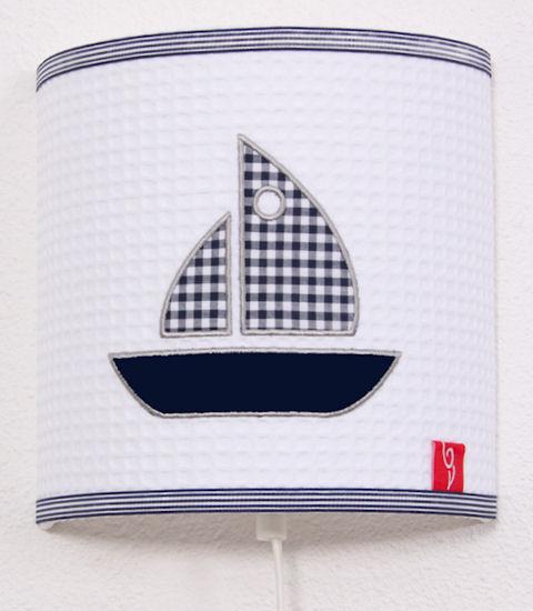 Wandlamp Sailboat blue
