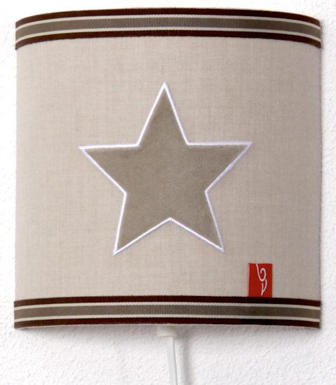 Wandlamp Star beige