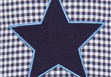 Wandlamp Star blue applicatie