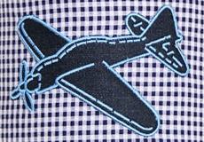 Wandlamp Vliegtuig ruit applicatie