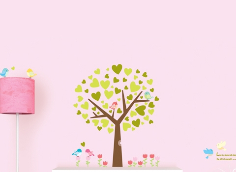 Muurstickers Birdtree