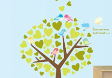 Muurstickers Birdtree sfeer