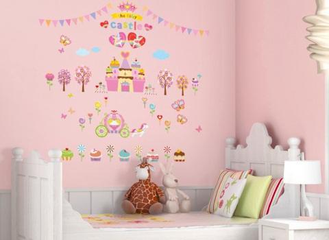 Muurstickers Cupcake Castle