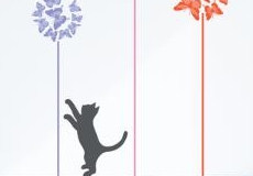 Muurstickers Kittens love butterflies film