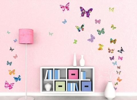 Vlinders muurstickers dessin
