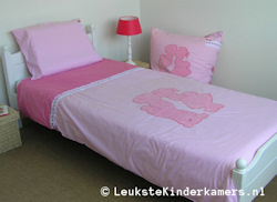 Kinderdekbedovertrek Dutch pink