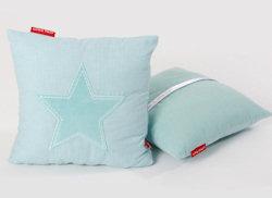 Knuffelkussen Star aqua