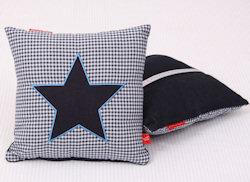 Knuffelkussen Star blue