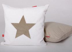 Sierkussen Stars pure beige