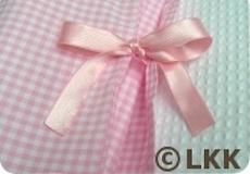 Junior dekbedovertrek Hertjes pink detail