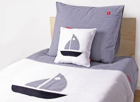 Junior dekbedovertrek Sailboat blue