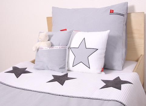 Junior dekbedovertrek Stars cool grey