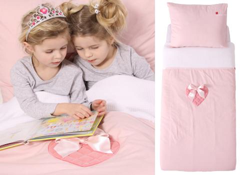 Junior dekbedovertrek Sweetheart pink