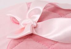 Junior dekbedovertrek Sweetheart pink applicatie