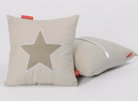 Knuffelkussen Star beige
