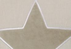 Knuffelkussen Star beige applicatie