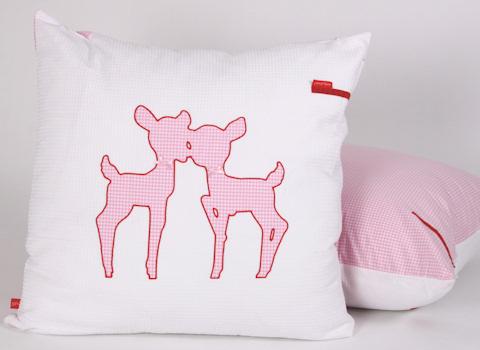 Loungekussenhoes Hertjes pink