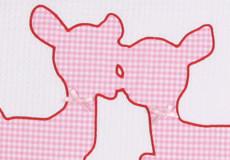 Loungekussenhoes Hertjes pink applicatie