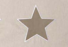 Loungekussenhoes Stars beige applicatie