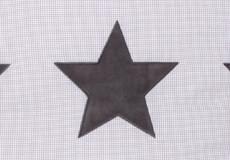 Loungekussenhoes Stars cool grey applicatie