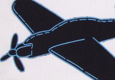 Loungekussenhoes Vliegtuig applicatie