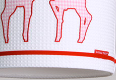 Hanglamp Hertjes pink detail