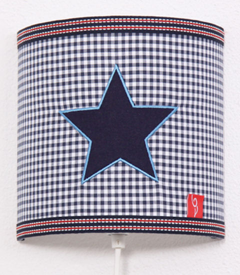 Wandlamp Star blue