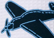 Wandlamp Vliegtuig wafelstof applicatie