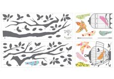 Muurstickers Birds on a tree stickervellen