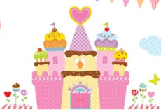 Muurstickers Cupcake Castle film2