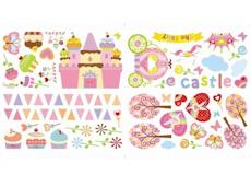 Muurstickers Cupcake Castle film3
