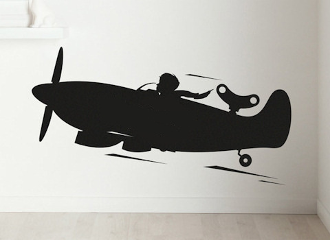 Schoolbordsticker Vliegtuig
